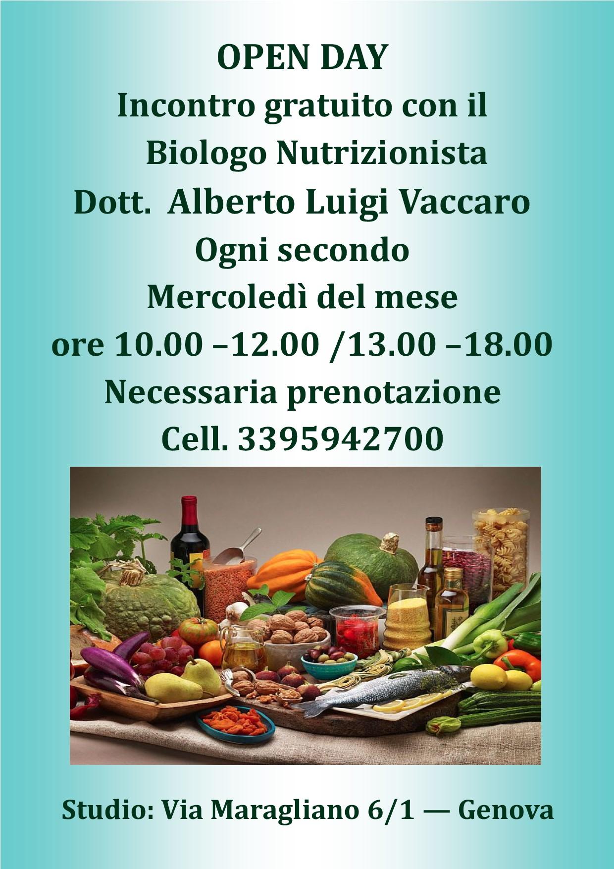 Nutrizionista Genova - dott. ALBERTO VACCARO - Dieta..